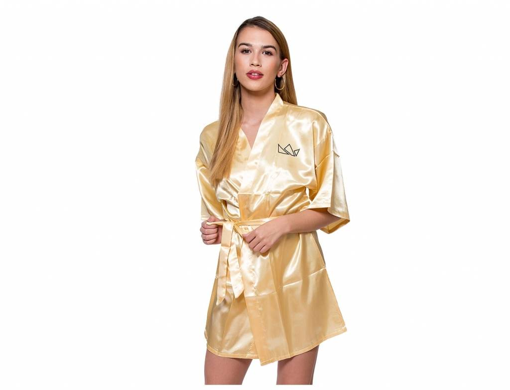 Satin Bathrobe - GOLD